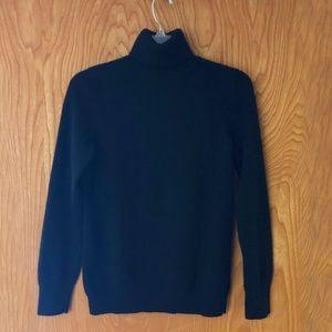Talbots cashmere turtleneck sweater, black, M